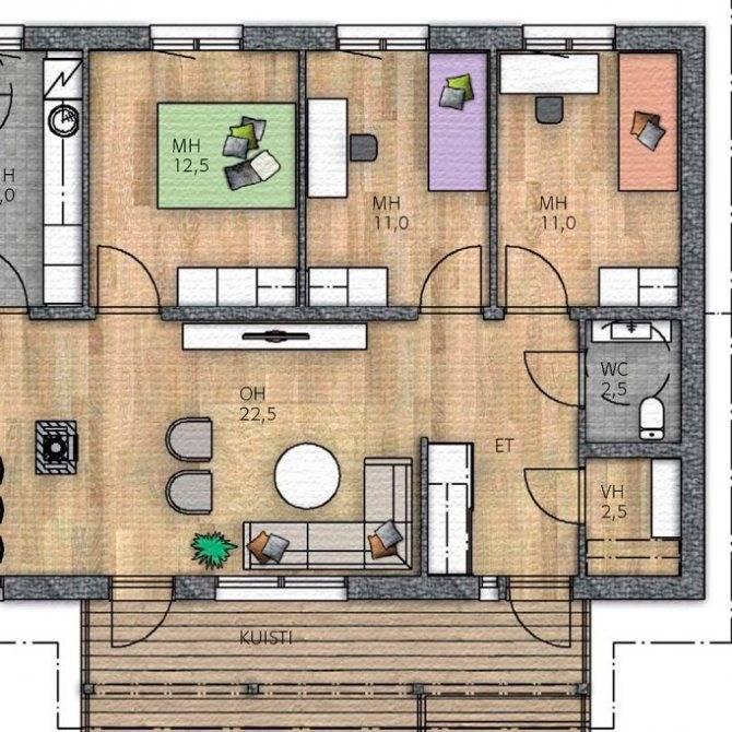 Одноэтажный дом с мансардой: примеры современной планировки