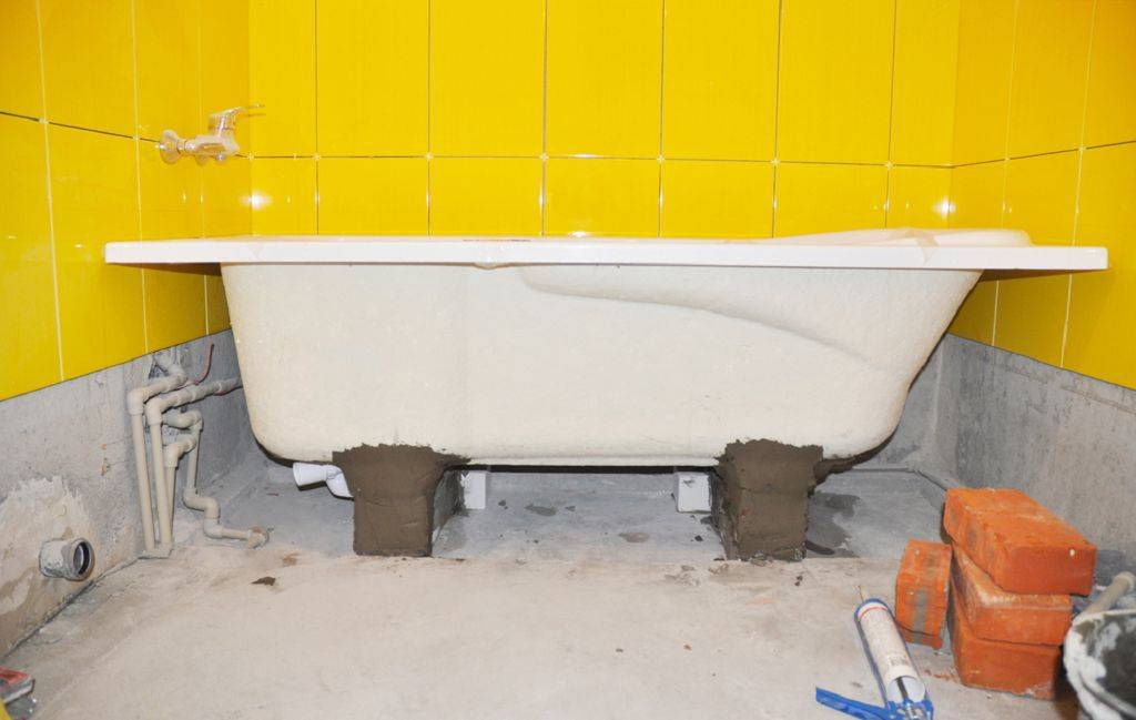 Установка акриловой ванны своими руками   советы специалистов