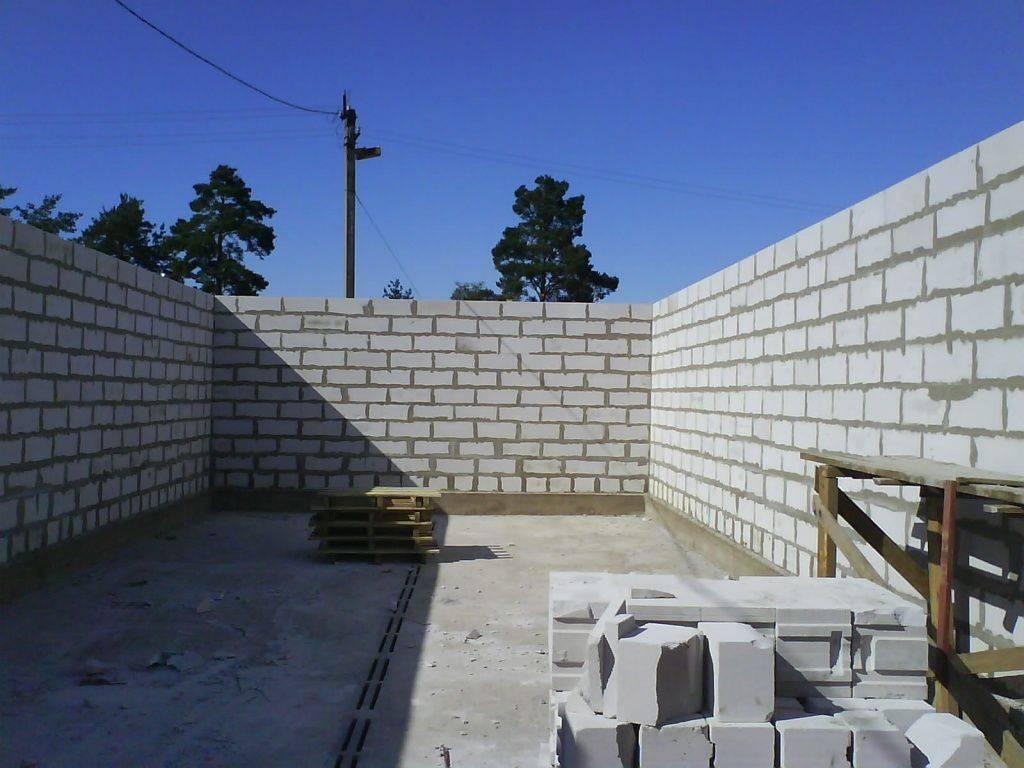 Гараж из газобетона своими руками: толщина стен, как строить фундамент, порядок строительства и необходимые расчеты