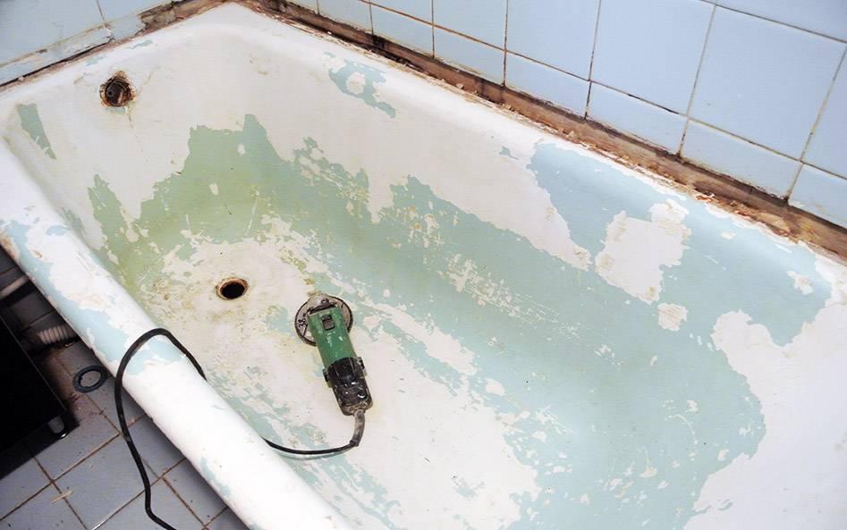 Реставрация ванн жидким акрилом (73 фото): восстановление и ремонт наливной ванны с помощью специального покрытия, как правильно покрыть