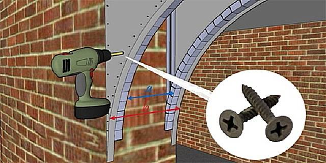 Как сделать арку из гипсокартона: расчеты, монтаж