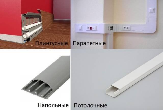 Разновидности и размеры кабель каналов