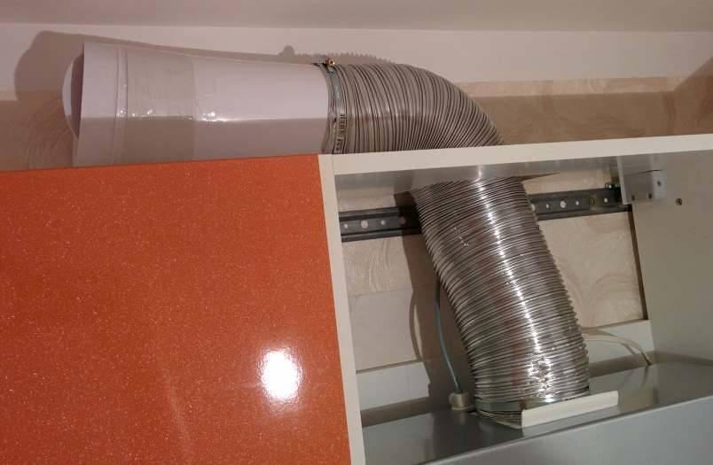 Подключение вытяжки на кухне к вентиляции: рекомендации по монтажу системы
