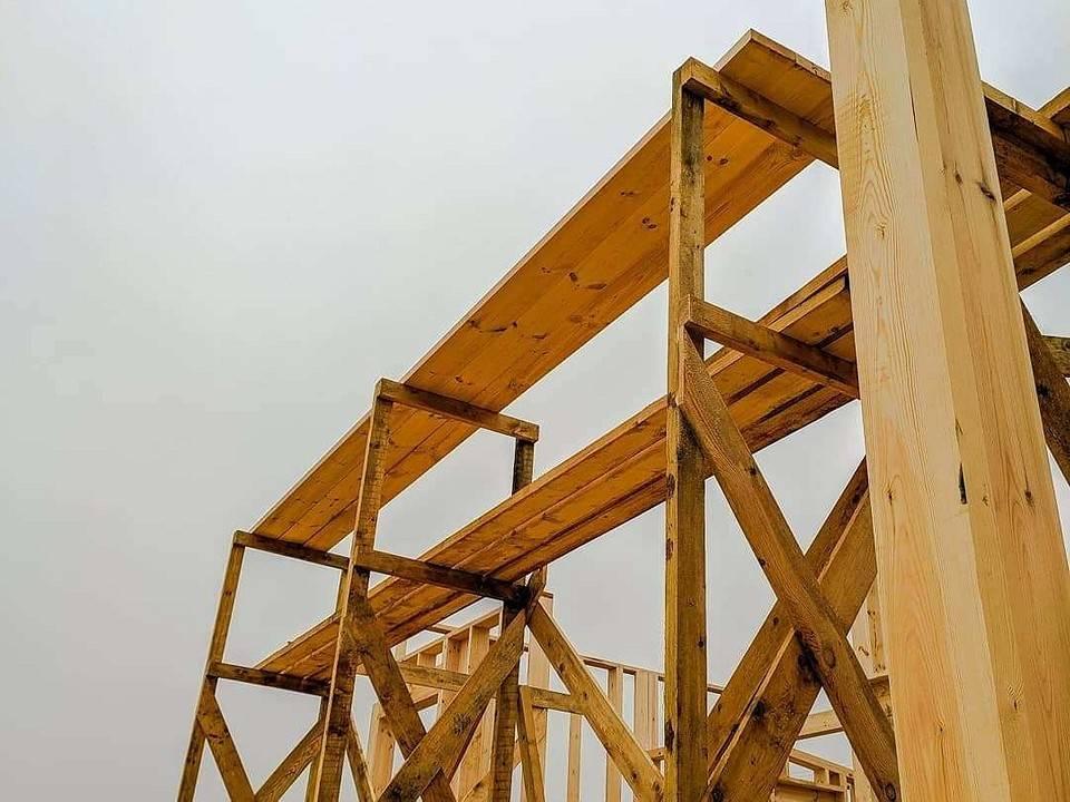Леса строительные из дерева своими руками - блог о строительстве