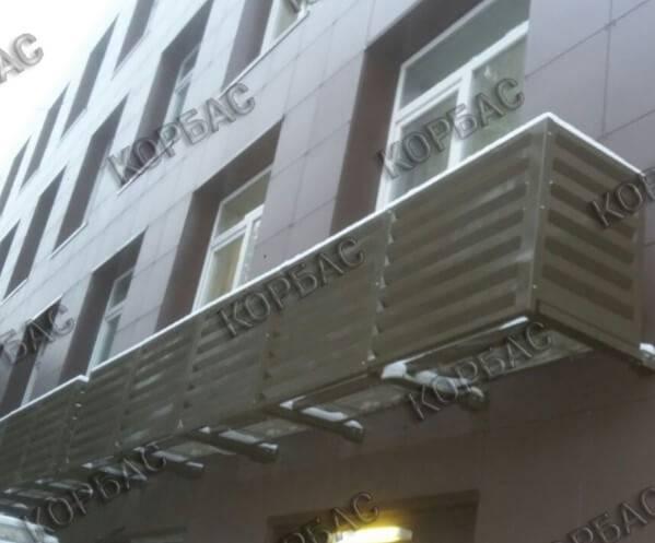 Изготовление фасадных корзин для кондиционеров