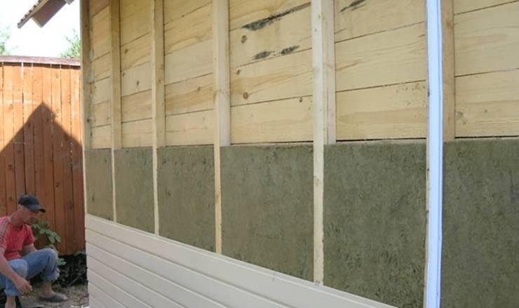 Утепление деревянного дома снаружи минватой под сайдинг по шагам