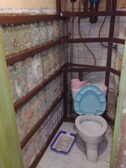Как сделать ремонт туалета своими руками: недорогой вариант отделки санузла в квартире