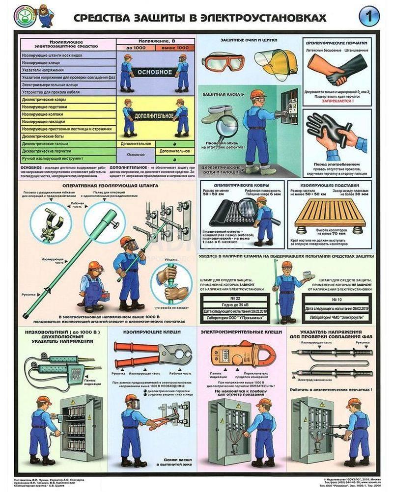 Правила пользования основными и дополнительными электрозащитными средствами - стройка