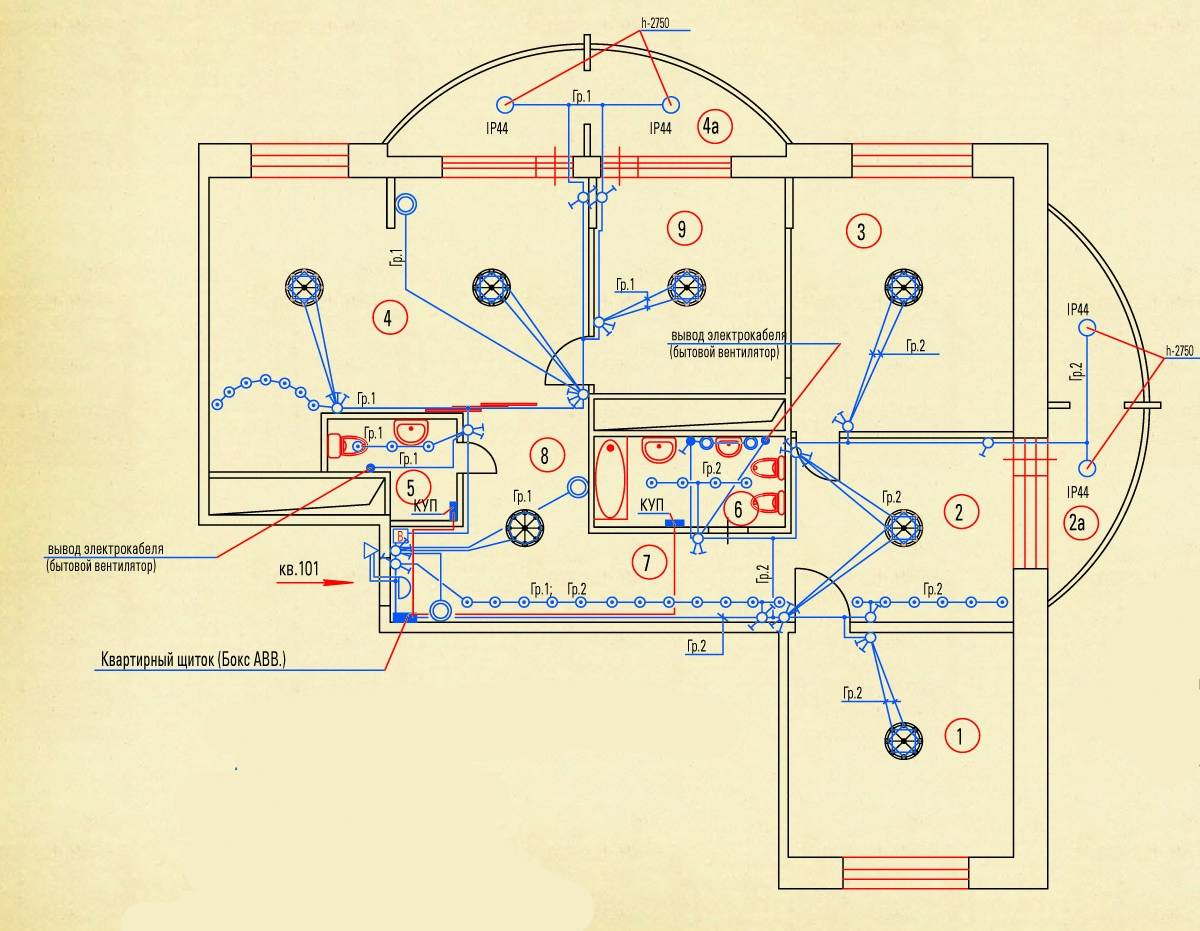 Проектирование электропроводки в квартире   ehto.ru
