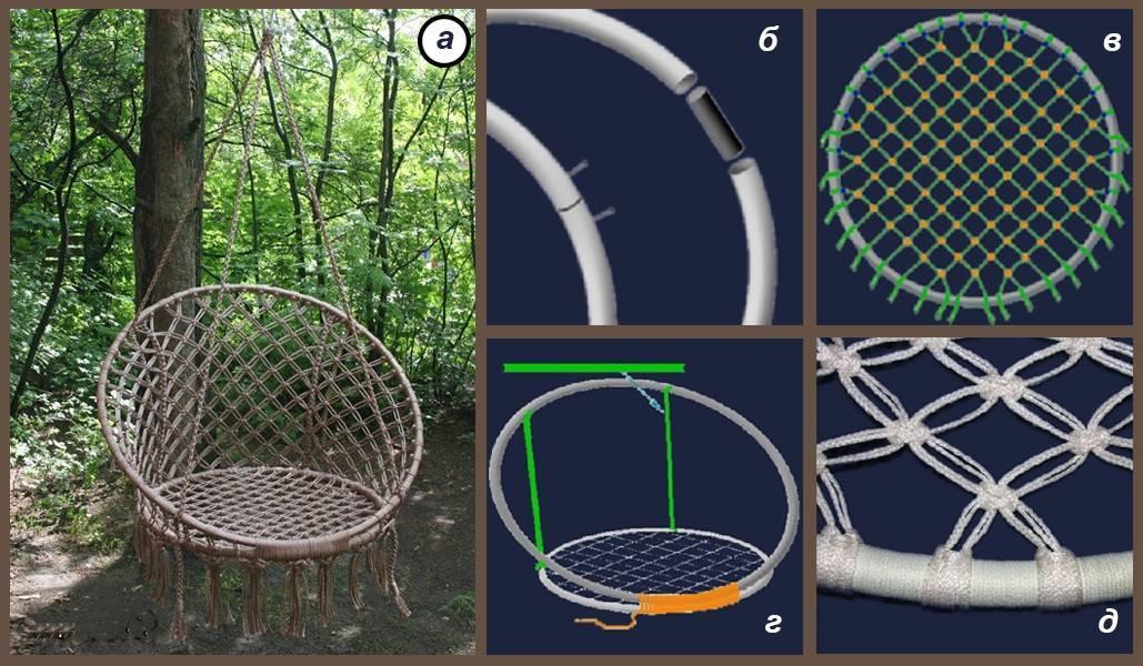 Как сделать подвесное кресло своими руками: гамаки, коконы, качалки из труб с пошаговыми инструкциями
