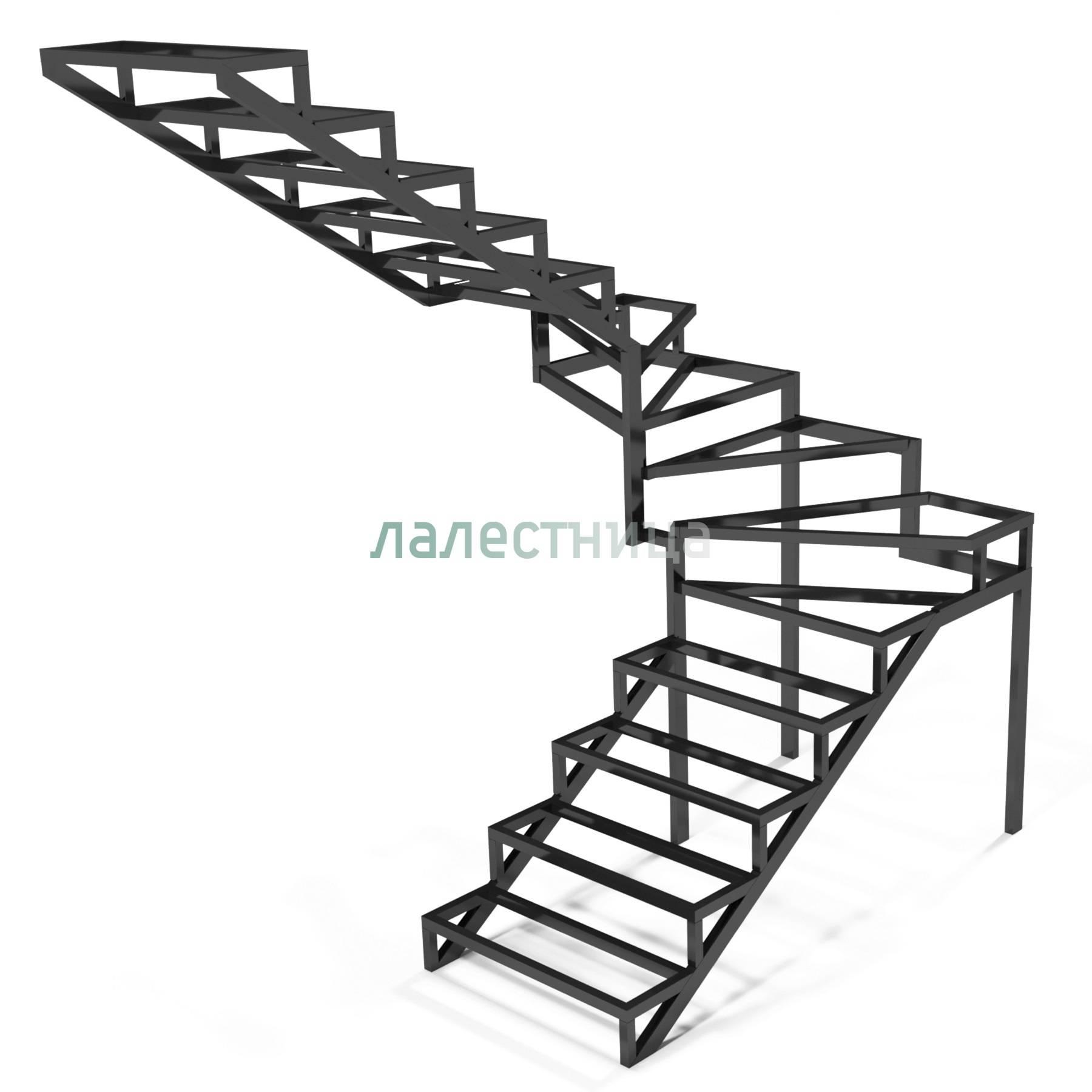 Как сделать каркас металлической лестницы из профильной трубы своими руками: чертежи, расчет