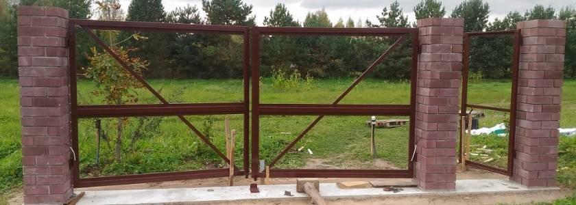 Как правильно установить столбы для ворот