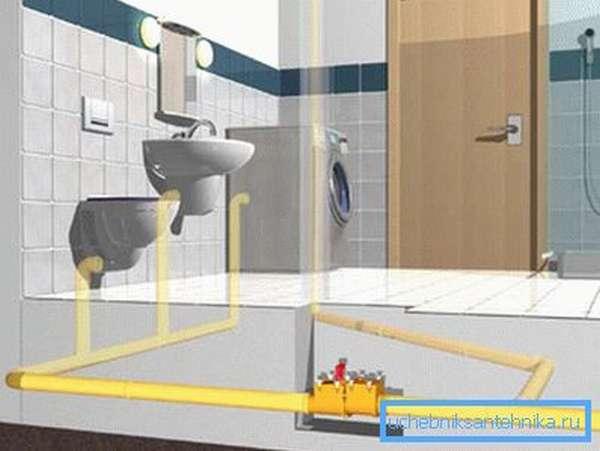 Устройство сухого затвора для канализации