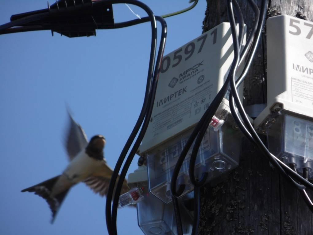 Установка счетчика электроэнергии на опору лэп