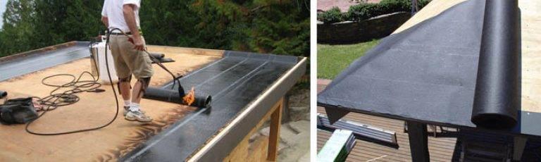 Как самостоятельно покрыть крышу рубероидом – два варианта укладки