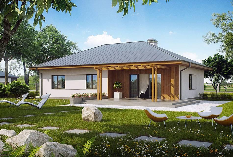 Проекты одноэтажных домов с террасой: 80 наиболее комфортных реализаций и актуальные тренды