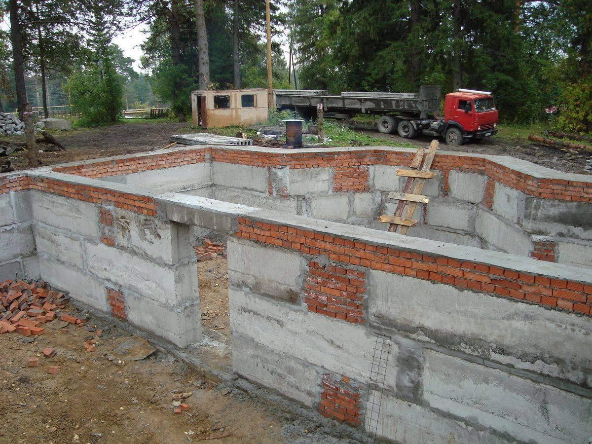 Фундамент с цокольным этажом — устройство и возведение