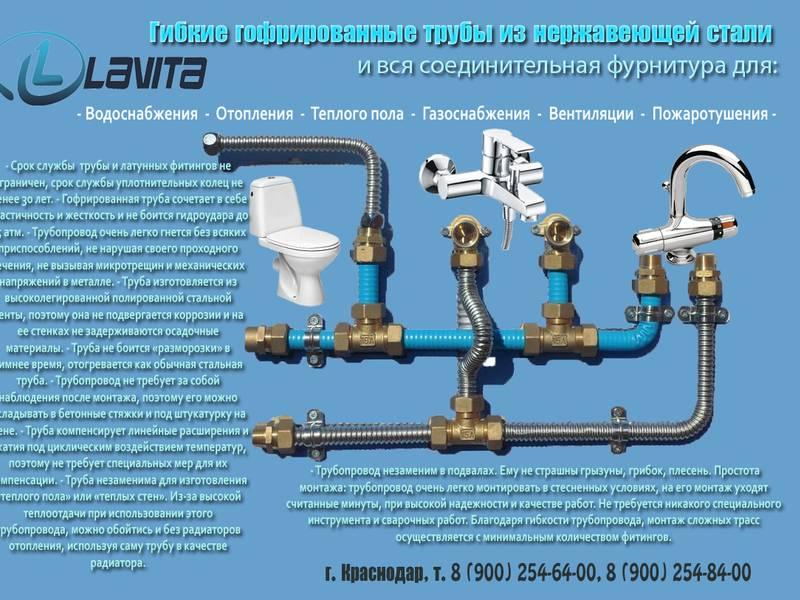 Трубы для питьевой воды: цена и характеристики