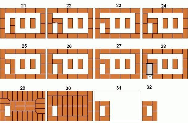 Печи кузнецова своими руками: порядовка колпаковой, двухколпаковой, отопительно варочной, для бани, схемы и чертежи