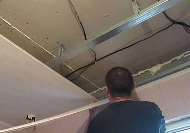 Монтаж подвесного потолка из панелей пвх: как сделать каркас для навесного потолка из пластиковых потолочных панелей, монтаж потолка своими руками