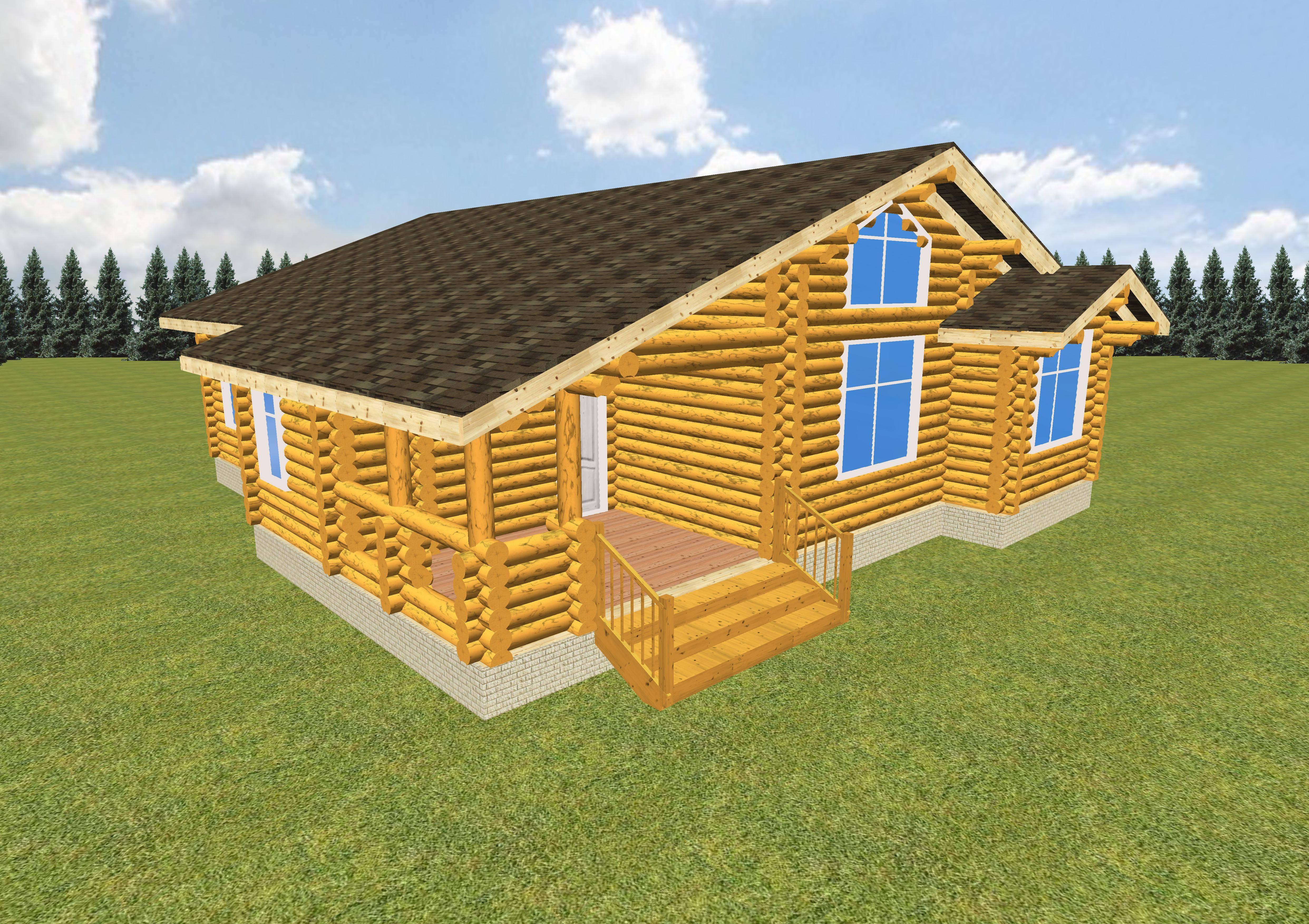 Дома из бревна (131 фото): строительство деревянного бревенчатого жилища и особенности калиброванного стройматериала, как построить из бруса и древесины большого диаметра