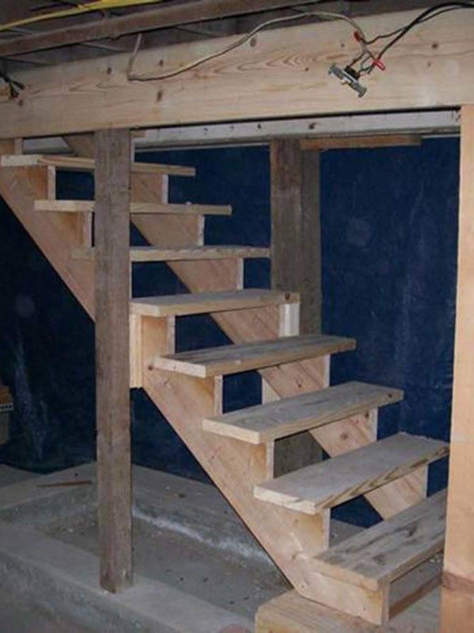 Лестница в погреб своими руками — как соорудить надежную конструкцию