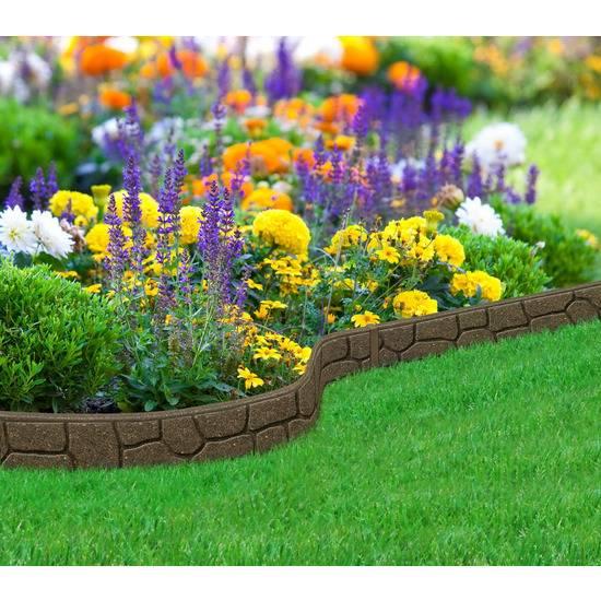 Бордюрная лента для оформления клумб, цветников, дорожек, грядок и газонов в саду