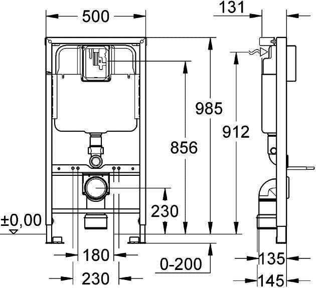 Размеры инсталляции для унитаза — виды конструкций