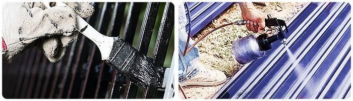 Металлические столбы для забора: чем покрасить столбики из металла