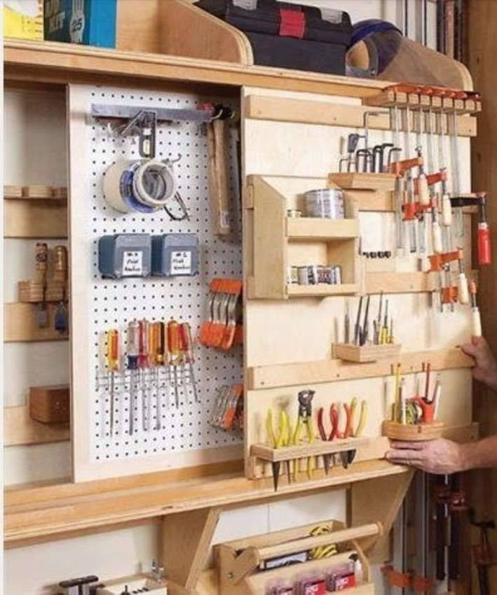 Домашняя мастерская – оптимизация пространства и удобное хранение инструментов. хранение инструмента на стене как организовать хранение инструментов