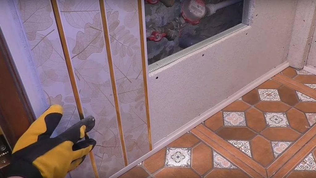 Отделка стен пластиковыми панелями (пвх): пошаговая инструкция