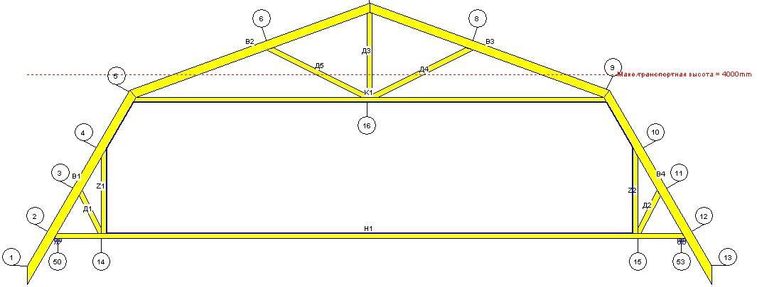Стропильная система у ломаной крыши: расчет и инструкция по правильному возведению