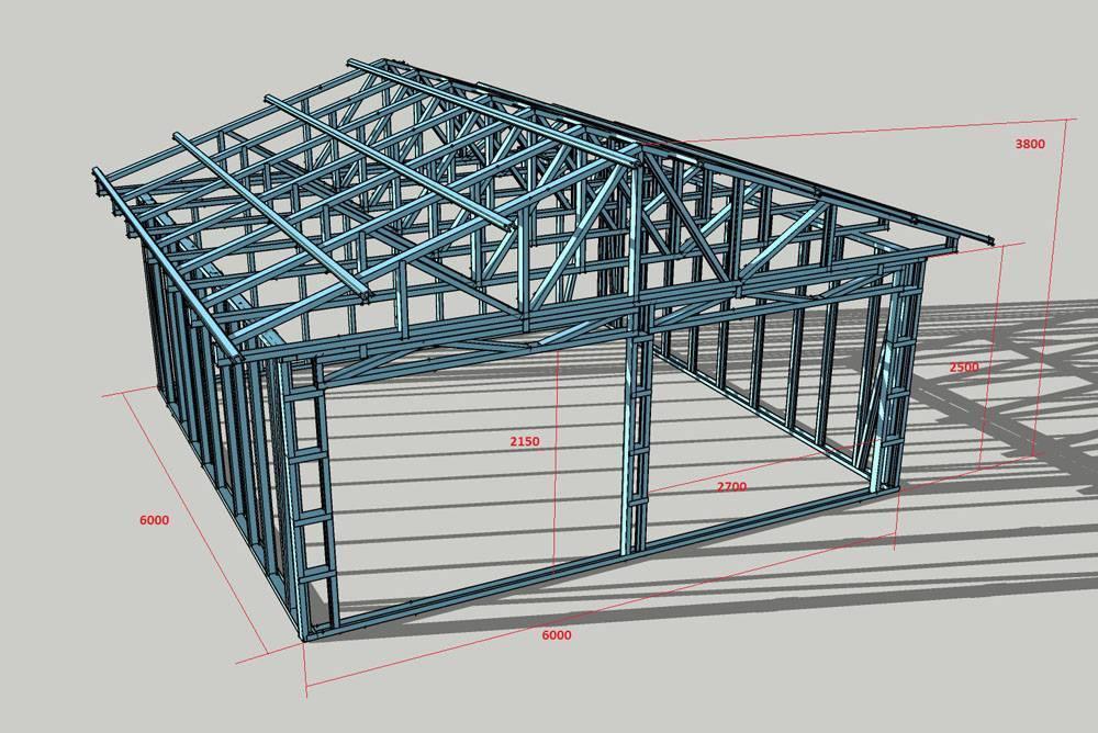 Строительство гаража из сэндвич-панелей своими руками
