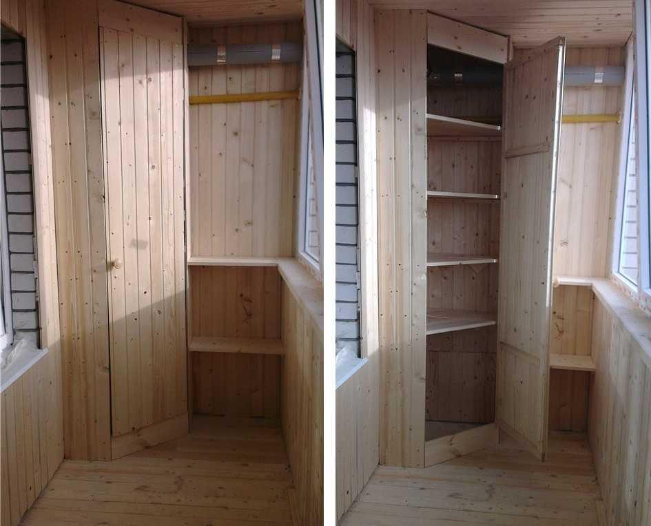 Шкаф на балкон своими руками: чертежи, схемы, описание и пошаговая инструкция