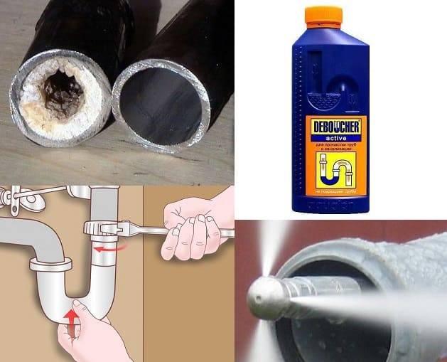Забилась канализация: чем прочистить засор и какие средства для чистки труб выбрать