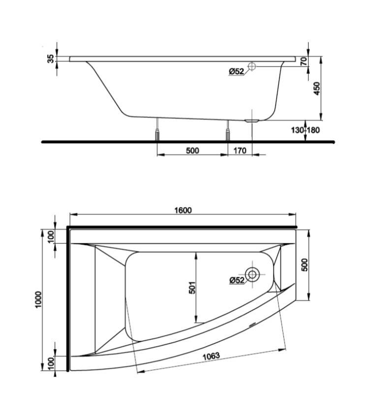 Сидячая ванна: размеры моделей, фото, цена изделий