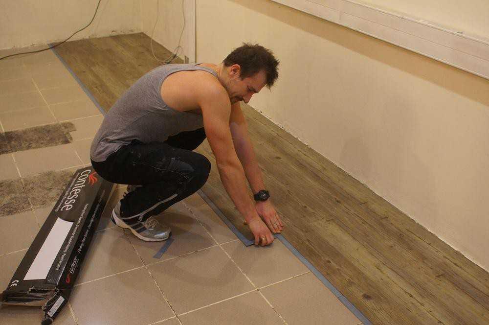 Плитка пвх. укладка при ремонте в ванной