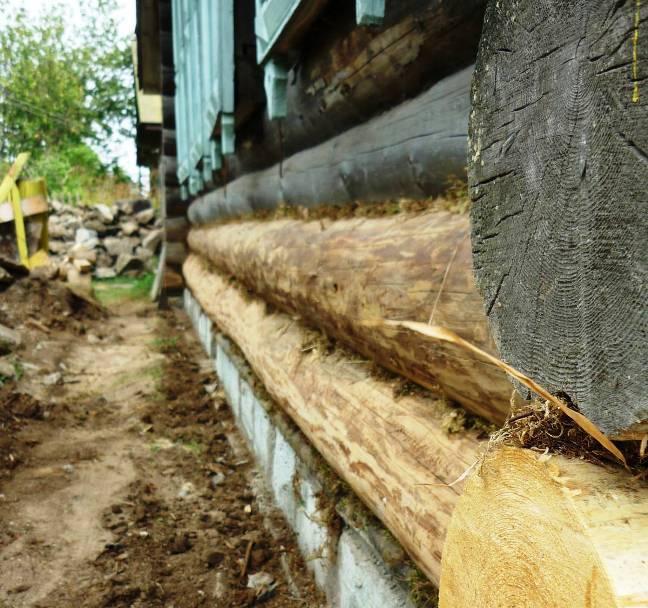 Замена нижних венцов деревянного дома - строительство дома своими руками