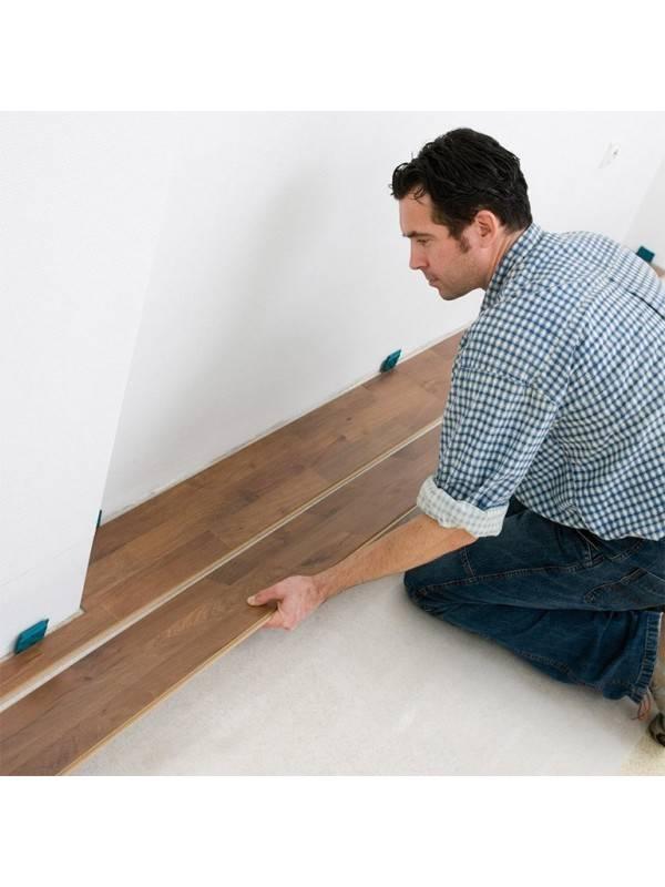 Как крепить ламинат на стену, способы крепления ламелей к стене