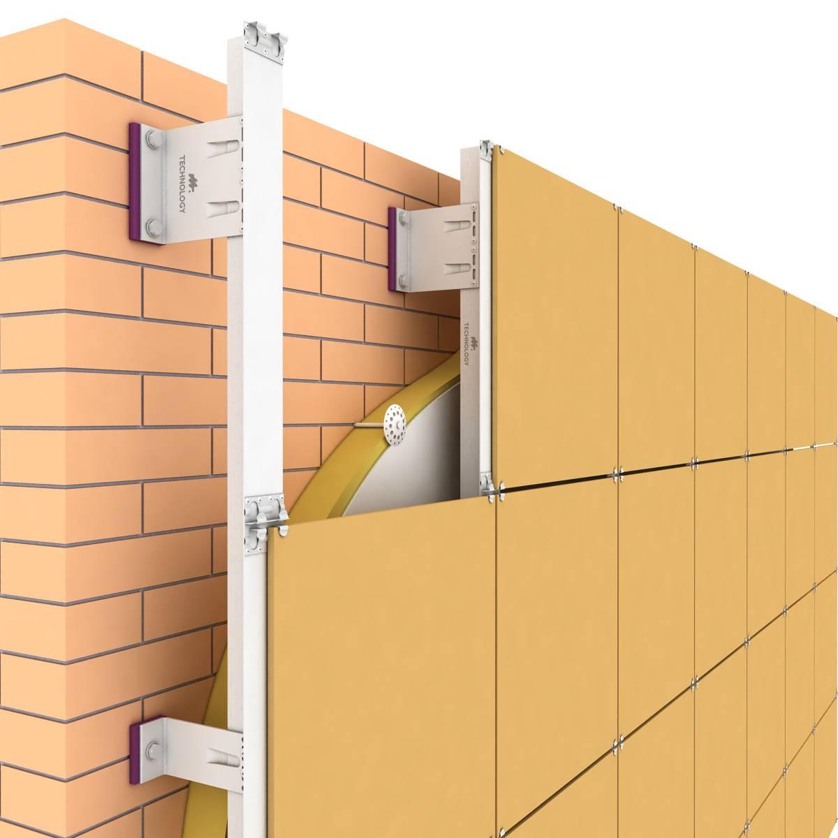 Подсистема для вентилируемого фасада – основные особенности и составные части