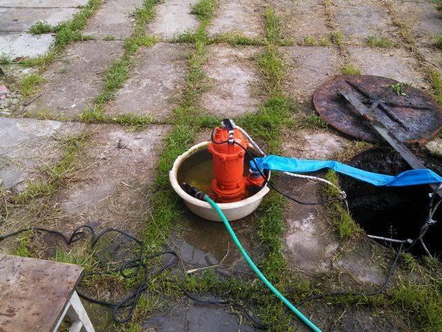 Фекальный насос для откачки канализации.