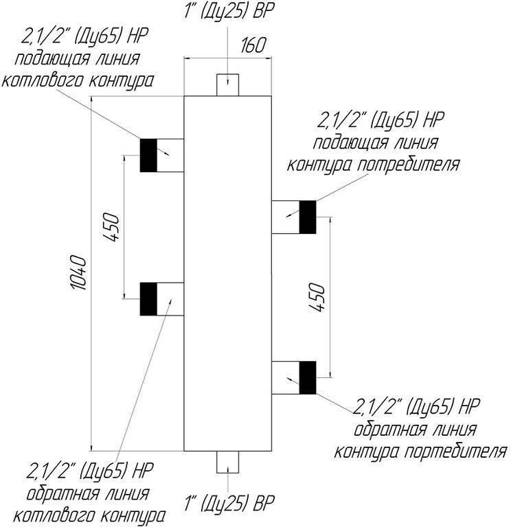 Гидрострелка для отопления: принцип работы, назначение и расчеты