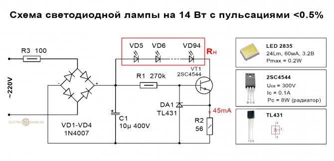Простой стабилизатор тока на 12в для светодиодов в авто