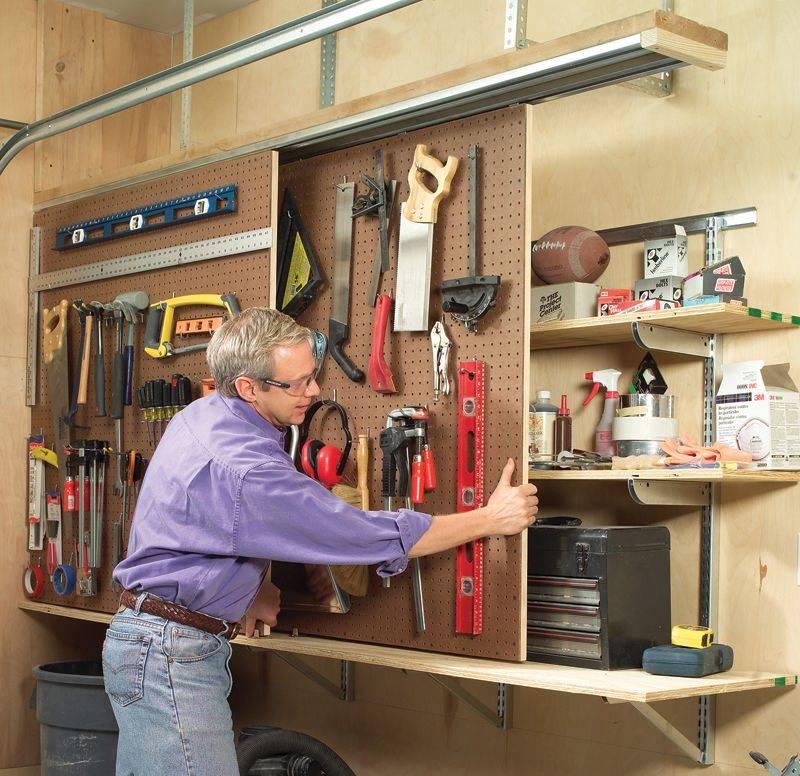 Домашняя мастерская – оптимизация пространства и удобное хранение инструментов - идеи и советы по ремонту и строительству