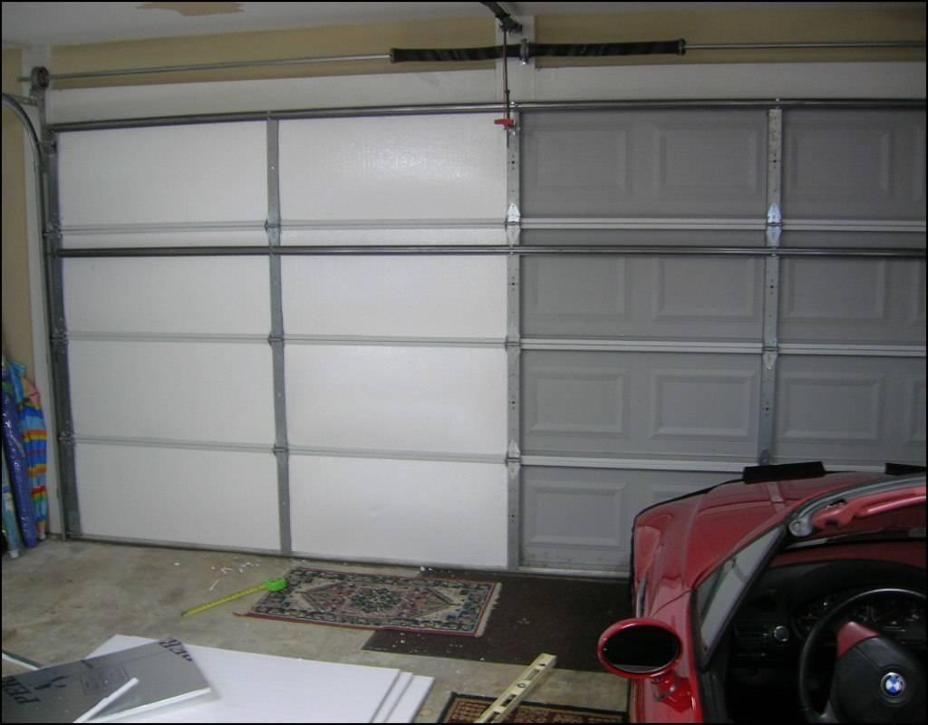 Как утеплить гаражные ворота изнутри своими руками – весь процесс от выбора утеплителя до уплотнения створок