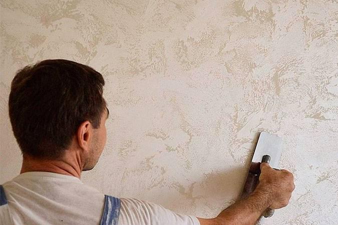 Фактурная покраска стен своими руками
