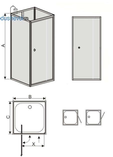 Прямоугольные душевые кабины: виды и правила выбора