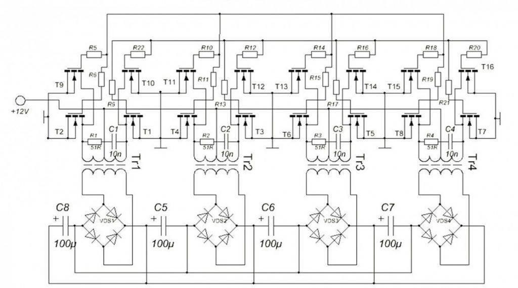 Инвертор 12 в 220 своими руками — изготовление и принцип работы