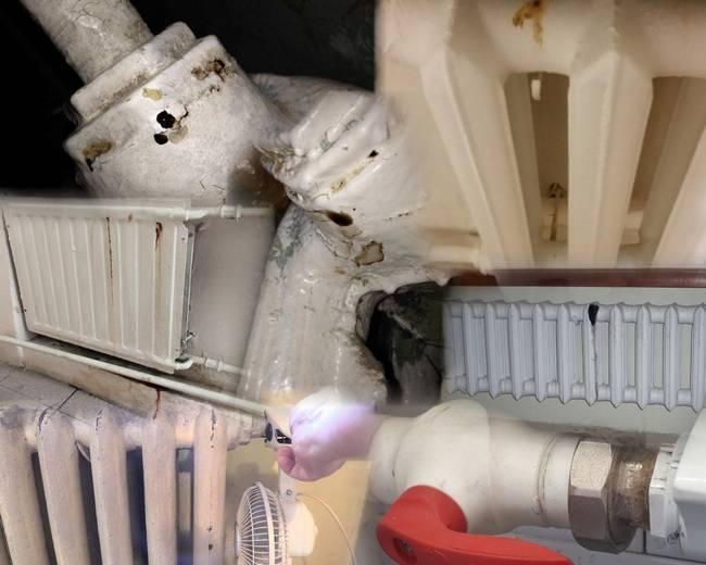 Как устранить течь в трубе отопления — течет батарея
