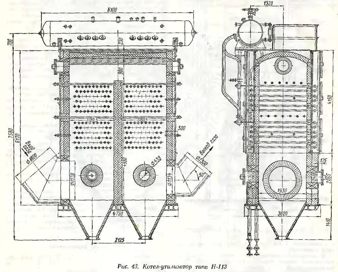 Конструкция - котлов-утилизатор  - большая энциклопедия нефти и газа, статья, страница 1